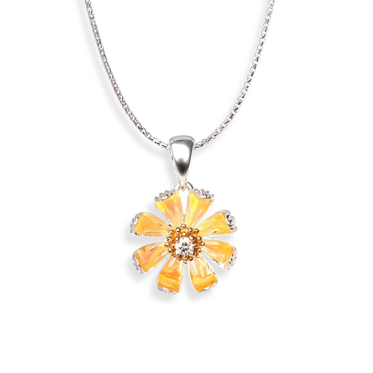 Sterling Silver Daisy Pendant
